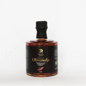 Bilde av flaske med chiliolje fra Gold of Italy.